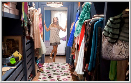 Sex and The City - Carrie Bradshaw's closet