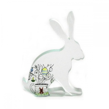 Luulla - Easter Egg Hare Glass Sculpture