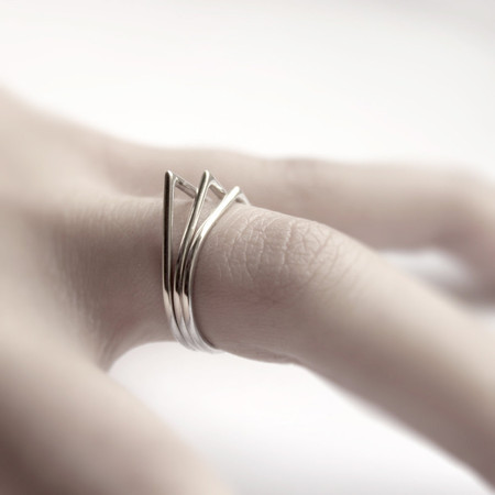 andrea0503 - Thorns. - Silver Stacking Rings