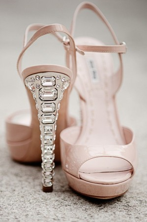 Miu Miu - nude sandals with crystal heel