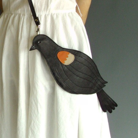 broundoor - Leather Red Winged Blackbird Bag