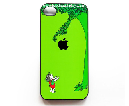 the giving tree with apple logo iPhone 4 Case, iPhone 4s Case, iPhone Case,iphone hard case
