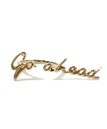 "ete - × 一ツ山佳子 Collaborated Jewelry - Message colleltion - ""Go ahead""/ イエローゴールド"