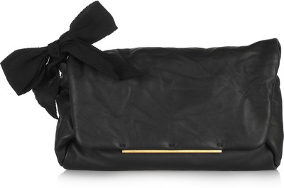 LANVIN - Ouloulette leather clutch