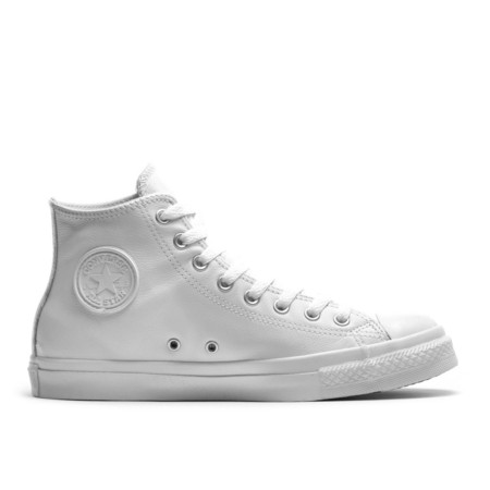 CONVERSE - All Star Hi Monochrome Leather White