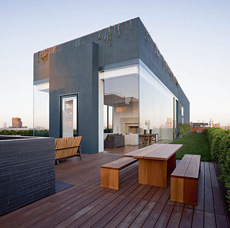 John Pawson - Rooftop of Ian Shrager's apartment, New York