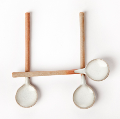 Ashes&Milk - White dipped spoons
