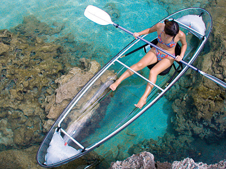 Clear Kayak - glass boat