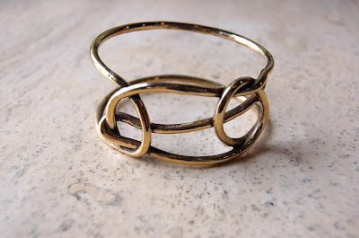 aesa - sheep shank bangle- brass