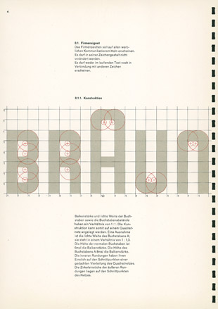 BRAUN - Corporate Manual, Designed by Wolfgang Schmittel, 1958