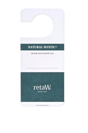 "retaW - Fragrance Room Tag ""NATURAL MYSTIC"""