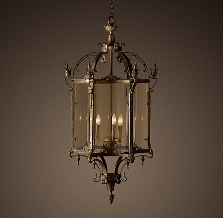 19th C. Salerno Streetlight Pendant Bronze