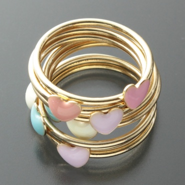 Accessorize - Multi Heart Stacker