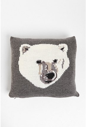 PJ by Peter Jensen Polar Bear Pillow