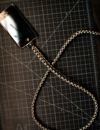 cdadamo - Foliage Green iPhone Paracord Cable