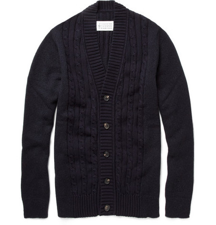 Maison Martin Margiela - a Cable Knit Panel Cardigan