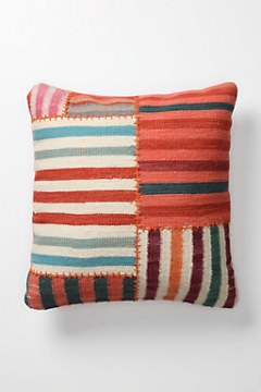 ANTHROPOLOGIE - Banded Dhurrie Pillow