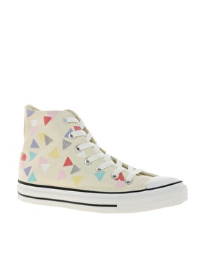 CONVERSE - All Star Confetti Print High Top Trainers