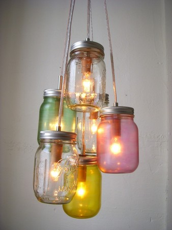 Mason Jar - Chandelier Lighting Pastel