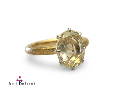 koji mitani - pt/k18 rosecut diamond ring