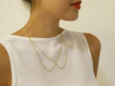 DIY CHAIN BOW NECKLACE