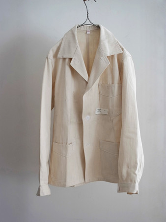 LILY1ST VINTAGE - 1960's deadstock french work tailored jacket