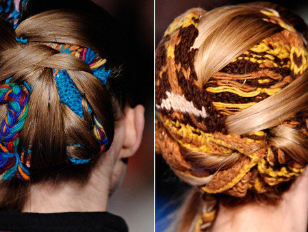 THAKOON - twist hair by THAKOON FW 2011