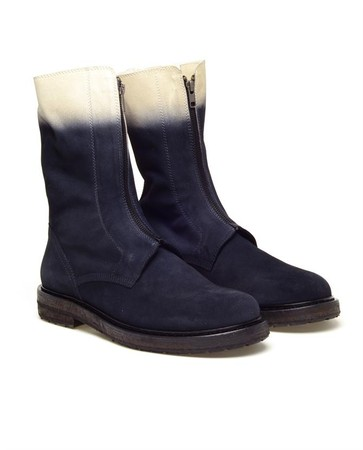 ANN DEMEULEMEESTER - BLOCK DYED SUEDE ENGINEER BOOTS