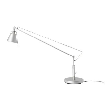 IKEA - HUSVIK Work lamp, silver color Height: 22