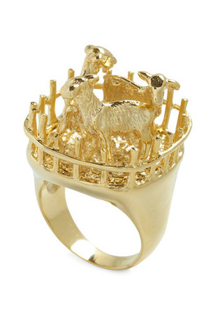 Goat for the Gold Ring by And Mary - Gold, Solid