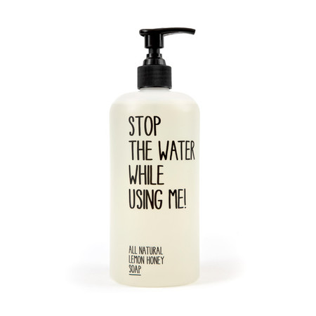 STOP THE WATER WHILE USING ME! - ALL NATURAL LEMON HONEY SOAP