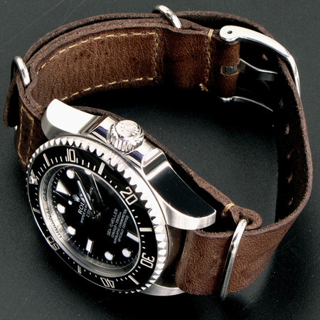 Rolex  - Sea-Dweller Deepsea x Leather Nato Gunny Straps