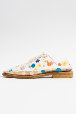 Anrealage - Clear floral print shoes