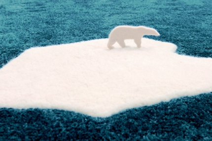 nanimarquina - Global Warming Polar Bear Rug by NEL