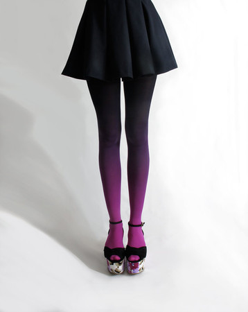 BZRBZR - Ombré tights/Fuschian Violet