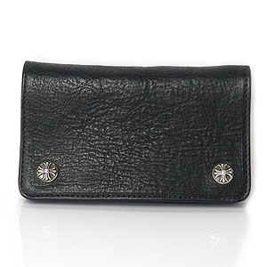 chrome hearts - 1ZIP LEATHER WALLET w/CROSS BUTTON