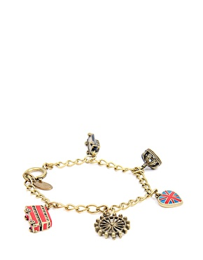 Cath Kidston - Red And Blue London Charm Bracelet