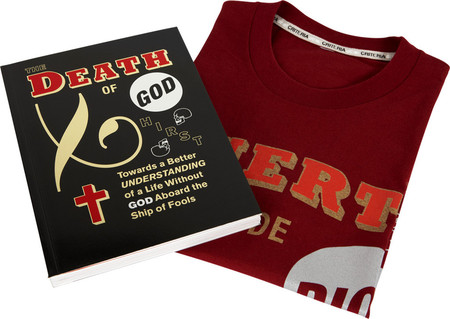 damien hirst  - death of god BOOK & T SHIRTS