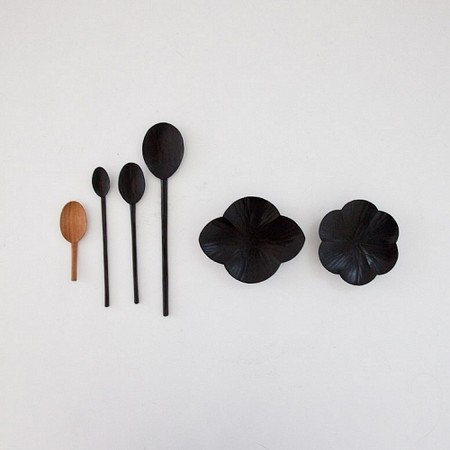 Tomii Takashi - Black lacquered wooden spoon