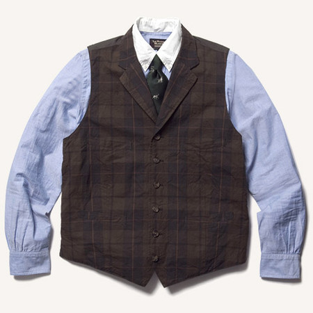 THE RUGGED MUSEUM - MADRAS LAPELED ODD VEST