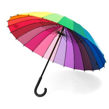 MoMA - 24 Color Wheel Stick Umbrella