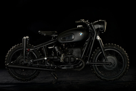 BMW @ Blitz-Motorcycles Custom Independant Garage , customized - Customized All Black BMW