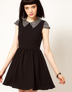 sister jane - Stud Collar Skater Dress