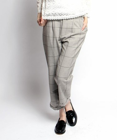 WINDOW PANE PANTS|グレー