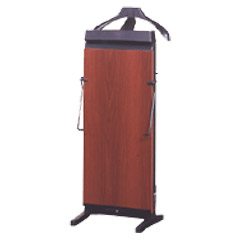 Corby - 3300 Pants Press Valet Walnut Wood Effect with Black Trim