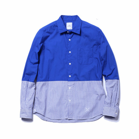 uniform experiment - L/S 2 TONE REGULAR COLLAR SHIRT