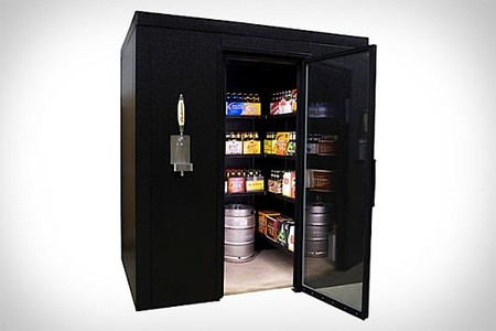 Kegworks - walk in beer cooler with a built in&Kegerator