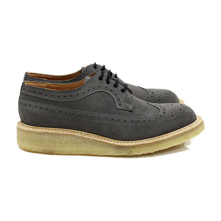 Tricker's for EHS - Grey Suede Golosh Brogues M7306