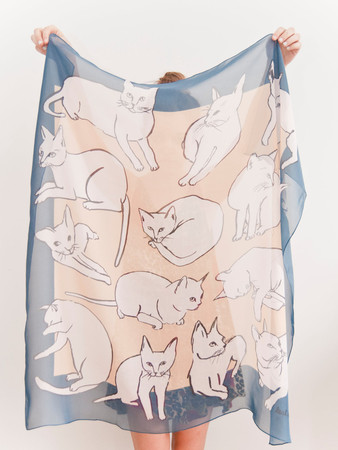 leahgoren - Picasso Cats Scarf