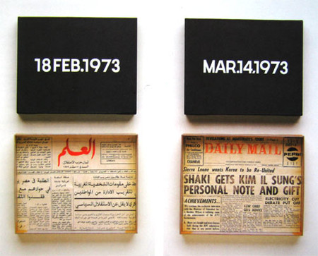 On Kawara - Feb. 18, 1973 & Mar. 14, 1973